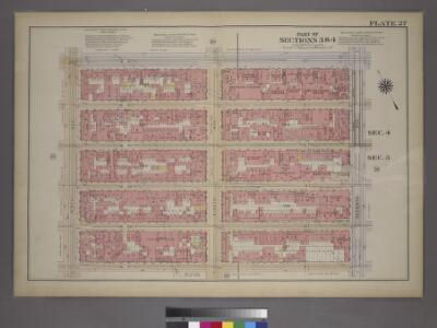 Plate 27, Part of Sections 3&4: [Bounded by W. 42nd Street, Seventh Avenue, W. 37th Street and Ninth Avenue.]