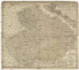 Regni Bohemiae, dvc Silesiae, marchionatvvm Moraviae et Lvsatiae tabula generalis