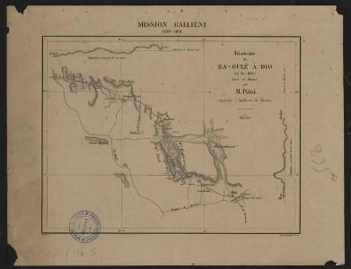 Mission Galliéni 1880-1881. Itinéraire de Ba-Oulé à Dio