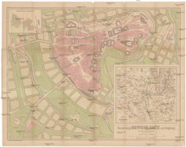 Plan der königl. Hauptstadt Olmütz und Umgebung