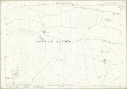 Buckinghamshire V.8 (includes: Chicheley; Clifton Reynes; Emberton; Hardmead; Petsoe Manor) - 25 Inch Map
