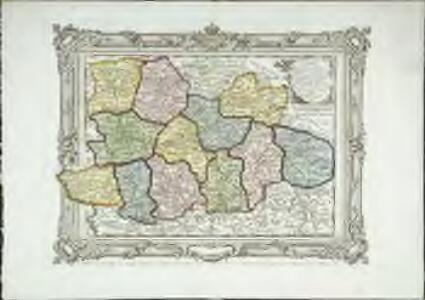 Carte des départemens de la Mayenne, de la Sarte, de Maine et Loire