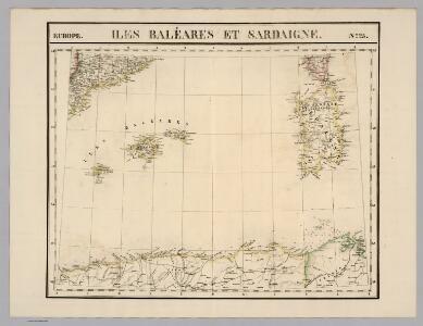 Iles Baleares et Sardaigne. Europe 25.
