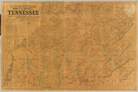 Lloyd's official map of the state of Tennessee.