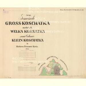 Gross Koschatka - m1295-1-001 - Kaiserpflichtexemplar der Landkarten des stabilen Katasters