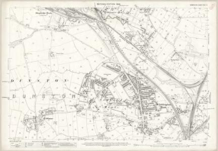 Derbyshire XVIII.14 (includes: Brimington; Chesterfield) - 25 Inch Map