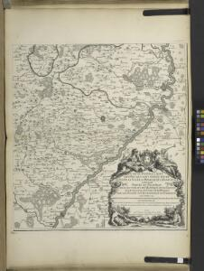 Carte particulìere des pays quì sont sítuéz entre la Rhein, la Saare, la Mosselle et la basse Alsace, contenant partìe du Palatinat, des Electorats de Mayence de Treves des Eveschés de Spìres et de Wormes avec les Duchés de Deuxponts et des Sìmmeren.
