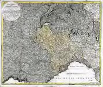 Kriegstheater oder Grænzkarte zwischen Frankreich und Italien