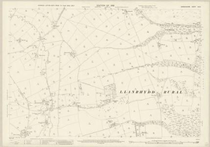 Denbighshire XIX.8 (includes: Llanbedr; Llanfair Dyffryn Clwyd Rural; Rhuthun) - 25 Inch Map