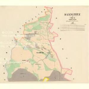 Damnětitz - c1059-1-001 - Kaiserpflichtexemplar der Landkarten des stabilen Katasters
