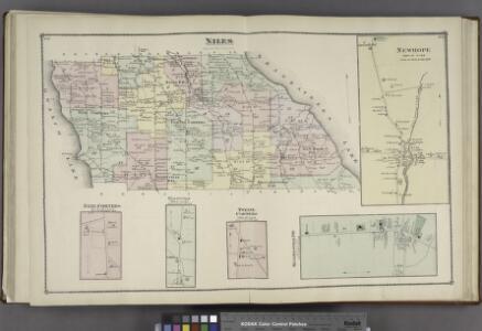Niles [Township]; Newhope [Village]; Nine Corners [Village]; Pennyville [Village]; Twelve Corners [Village]; Kelloggsville P.O. [Village]