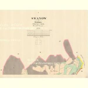 Swanow - m2990-1-001 - Kaiserpflichtexemplar der Landkarten des stabilen Katasters