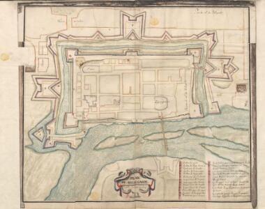 Colored plan of Bellegarde or Seurre