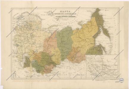 Karta evropejskoj i azijatskoj Rossii