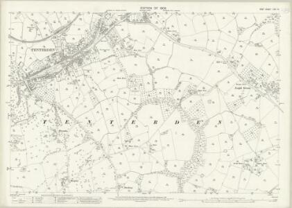 Kent LXXI.16 (includes: Tenterden) - 25 Inch Map