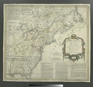 North America from the French of Mr. D'Anville: improved with the back settlements of Virginia and course of Ohio: illustrated with geographical and historical remarks.