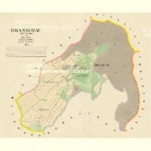 Branschau (Braňziow) - c0464-1-001 - Kaiserpflichtexemplar der Landkarten des stabilen Katasters