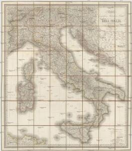 Carta geografica, statistica e postale dell'Italia