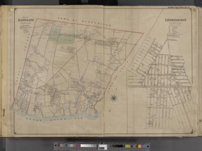 Suffolk County, V. 1, Double Page Plate No. 1 [Map bounded by Town of Huntington, Town of Islip, Great South Bay, Nassau County, Lindenhurst] / supplemented by careful measurements & field observations by our own Corps of Engineers.
