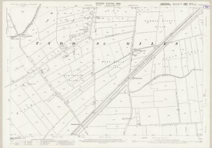 Lincolnshire CXLIXA.1 (includes: Newton; Tydd St Giles; Tydd St Mary) - 25 Inch Map