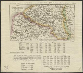 Carte de la Belgique avec les routes & distances des postes