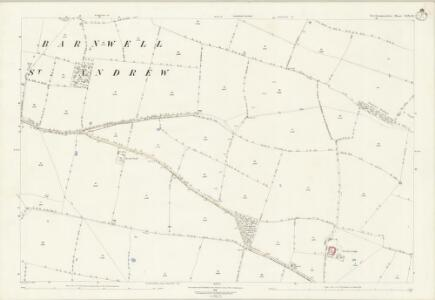 Northamptonshire XIX.14 (includes: Barnwell; Polebrook) - 25 Inch Map