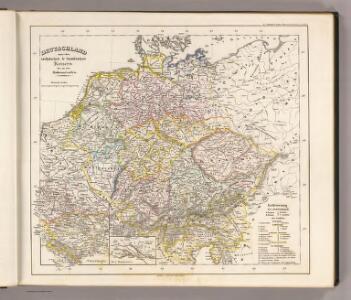 Deutschland unter den saechsischen & fraenkischen Kaisern bis zu den Hohenstaufen.