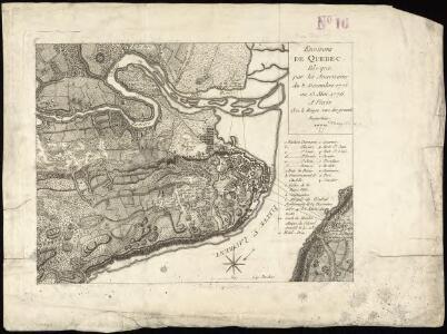 Environs de Quebec, bloque par les Americains du 8. Decembre 1775 au 13. Mai 1776