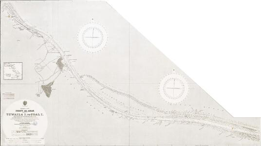 Persian Gulf. Shatt al Arab. Sheet v. Tuwaila I. to Coal I. Natural scale 1 : 25,000