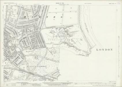 Surrey II.14 (includes: Barnes; Fulham; Wandsworth Borough) - 25 Inch Map