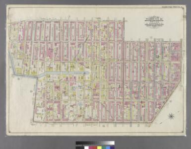 Double Page Plate No. 3: [Bounded by Smith St., Bergen St., Hoyt St., Fulton St., Flatbush Ave., Fourth Ave., First St., (Gowanus Canal) Bond St., Fourth St. Hoyt St. and Fifth St.]