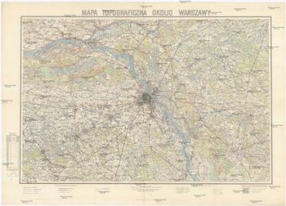 Mapa topograficzna okolic Warszawy