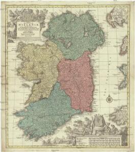 Regnum Hiberniae, tam secundum IV provincias principales Ultoniam, Connaciam, Lageniam, Momoniam quam speciales, accuratae designata