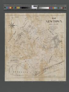 Map of Newtown Long Island. Designed to exhibit the localities referred to in the