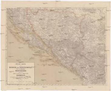 Special-Karte von Bosnien, der Herzegowina, dem Fürstenthum Montenegro und dem österreichischen Kronlande Dalmatien