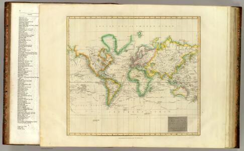 Hydrographical chart of the World.