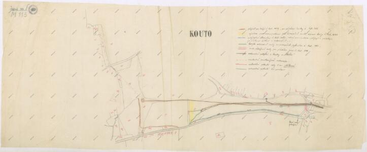 Výsek katastrální mapy obce Kout