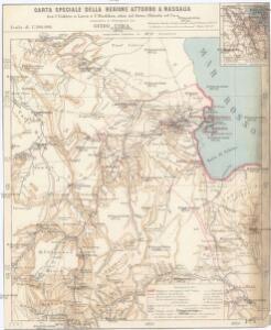 Carta speciale della regione attorno a Massaua