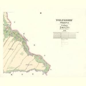 Wolfsdorf (Wilkowa) - m2785-1-003 - Kaiserpflichtexemplar der Landkarten des stabilen Katasters