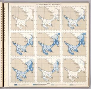 Ice Charts, White Sea (Beloye More).  October - June.
