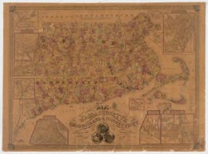 Map of Massachusetts, Rhode-Island & Connecticut : compiled from the latest authorities