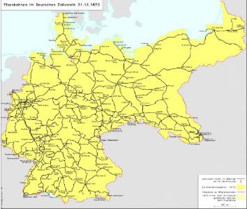 Eisenbahnen im Deutschen Zollverein 31.12.1870