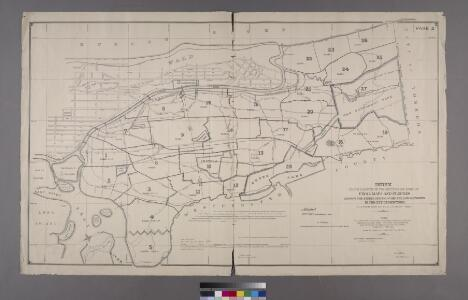 Index to the Location of the Sections and Pages of Final Maps and Profiles, showing the street system in the 23rd and 24th Wards, in the City of New york. [Grid #5000W - 20000E, #15000N - 30000S.]