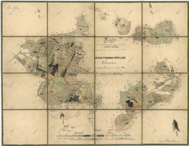 Porostní mapa revíru Pořejov-Dörflas