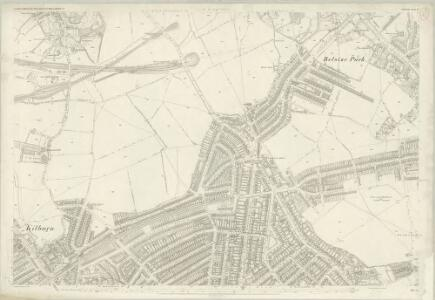 London (First Editions c1850s) XV (includes: Hampstead; St Marylebone) - 25 Inch Map