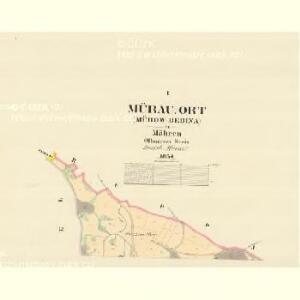 Mürau Ort (Murow Dedina) - m1815-1-001 - Kaiserpflichtexemplar der Landkarten des stabilen Katasters