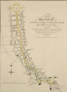 PLAN OF A Street Proposed FROM CHARING CROSS TO PORTLAND PLACE.