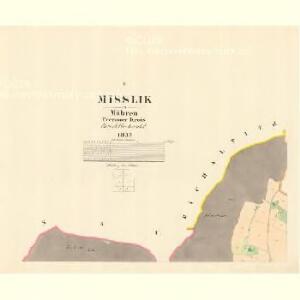 Misslik - m1914-1-001 - Kaiserpflichtexemplar der Landkarten des stabilen Katasters