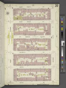 Manhattan, V. 2, Plate No. 20 [Map bounded by E. 10th St., Avenue A, 5th St., 1st Ave.]
