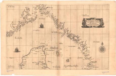Museumskart 169: Kart over kysten fra Gøteborg til Arendal med nordspissen av Jylland